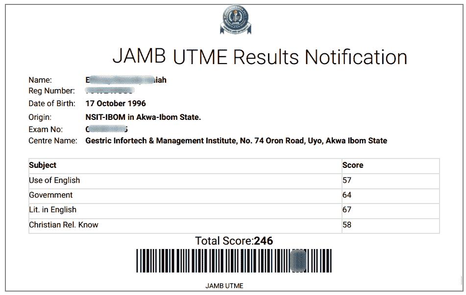 Jamb 2019 CBT Result