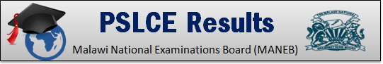 PSLCE Results 2020 Pass List @www.maneb.edu.mw