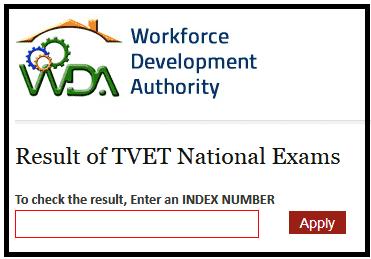 TVET National Exams Result 2018-18