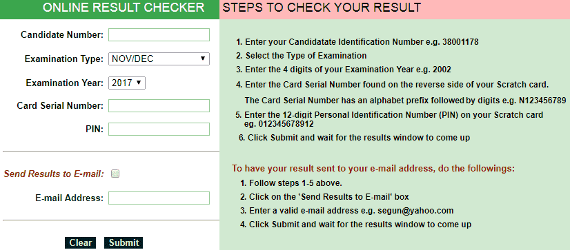 Nabteb Result Checker 2018